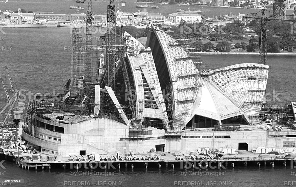 Opera house construction stock photo