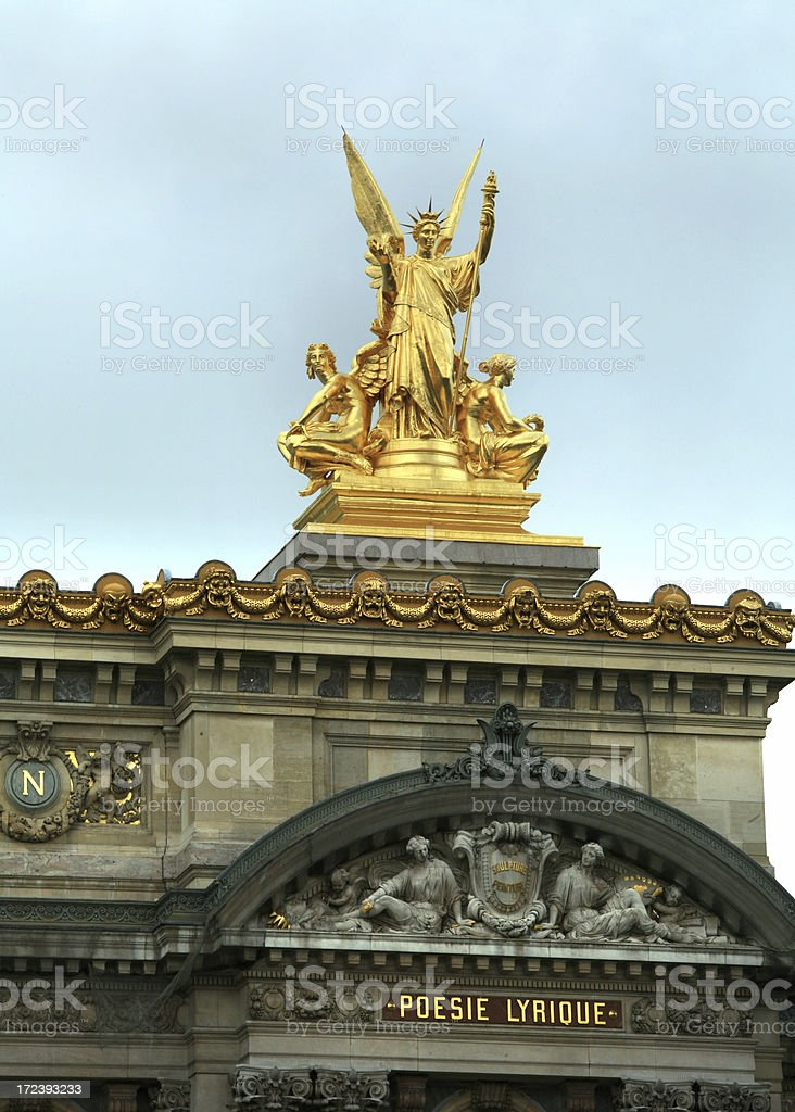 Opera House Garnier in Paris France royalty-free stock photo