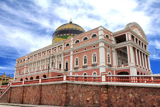 Opera House in Manaus The famous Teatro Amazonas opera house in the Amazonian region of Brazil. manaus stock pictures, royalty-free photos & images