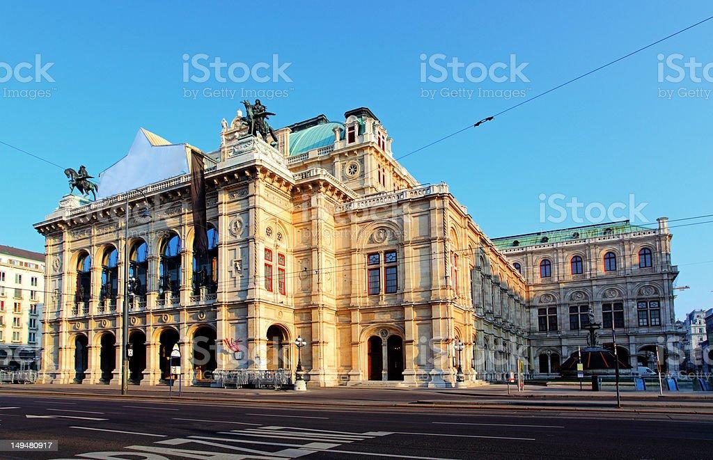 Opera house in Vienna, Austrian capital Opera house in Vienna, Austria Ancient Stock Photo