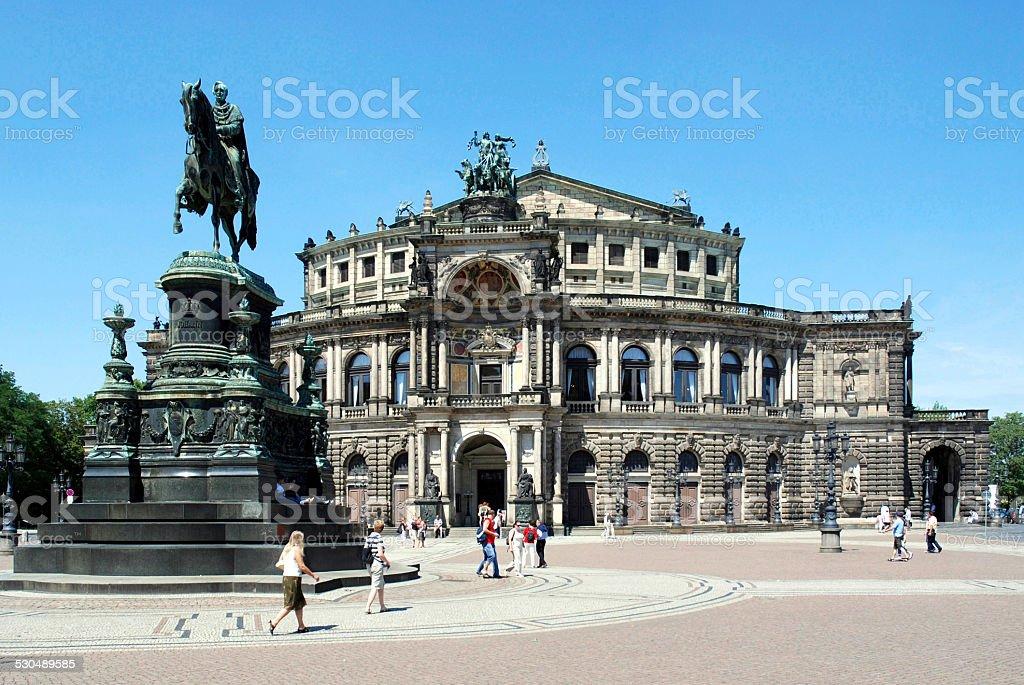 Opera house Semperoper in Dresden stock photo