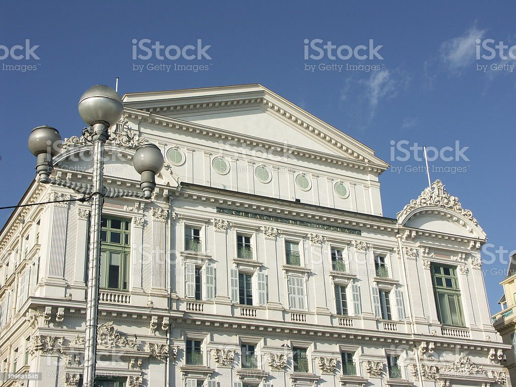 Opera of Nice (French Riviera) royalty-free stock photo