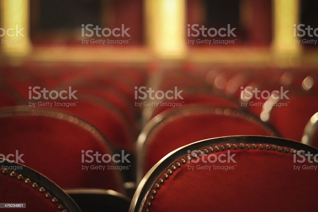 Opera seats stock photo