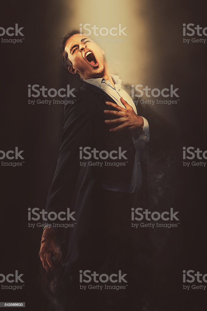 Opera singer performing stock photo