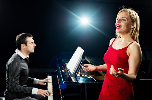 Opera singer with a pianist.