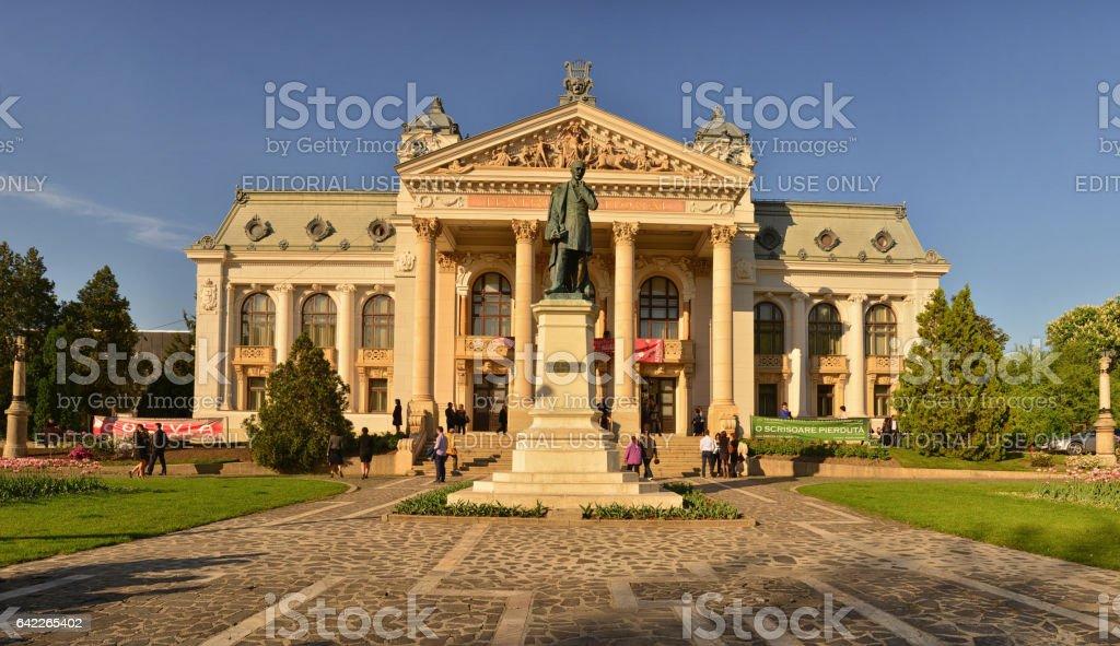 Opera theater in Iasi. Romania. stock photo