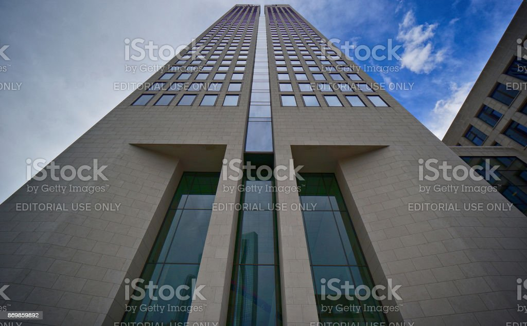 Opernturm Frankfurt stock photo