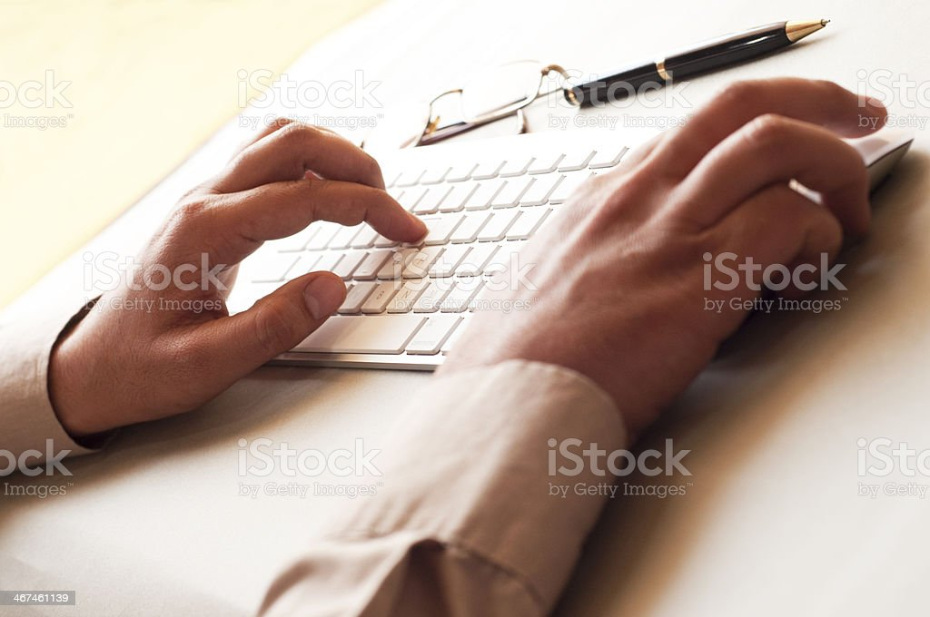 Operating Mouse royalty-free stock photo
