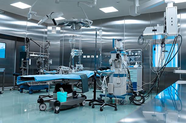 operationssaal in herz- chirurgie - op leuchte stock-fotos und bilder