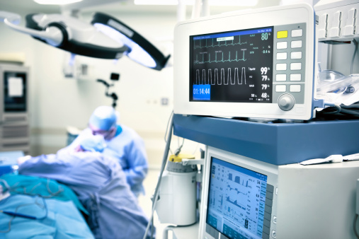 Operating Room Monitors Stock Photo - Download Image Now