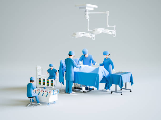 Operating room Operating room biomedical illustration stock pictures, royalty-free photos & images