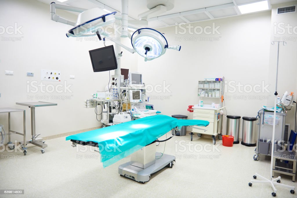 Operating room with no people stock photo