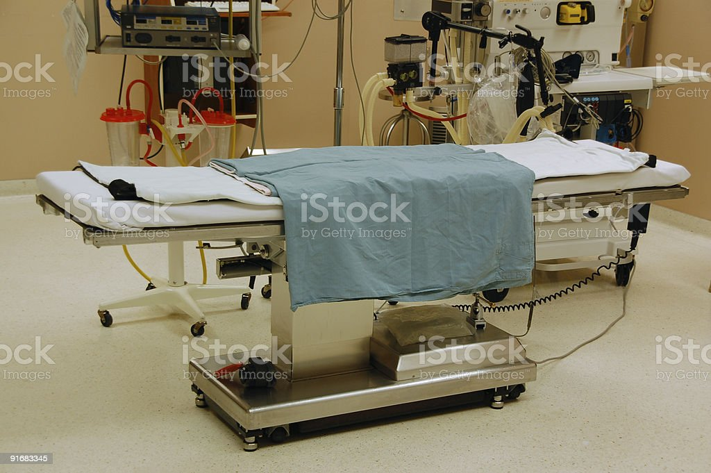 Operating table stock photo