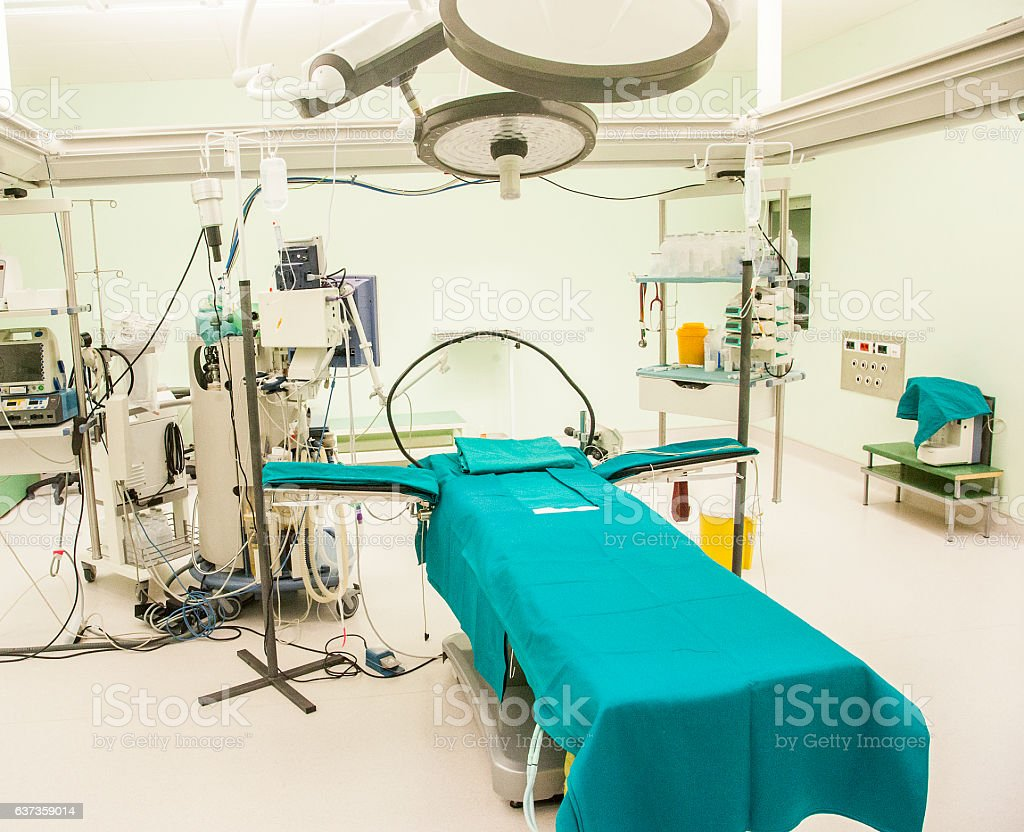 Teatr Pracy Z Puste łóżko I Sprzęt Medyczny Zdjęcia
