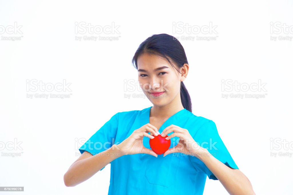 operation doctor woman is holding heart photo libre de droits