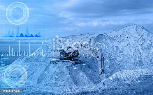 1136415363 istock photo operation of an excavator without human intervention, remote control using artificial intelligence and monitoring the environmental impact of construction on the environment 1209317431