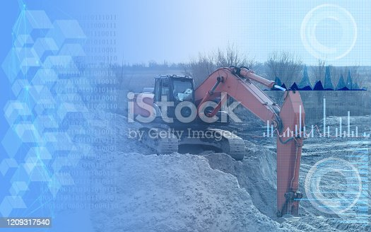 1136415363 istock photo operation of an excavator without human intervention, remote control using artificial intelligence and monitoring the environmental impact of construction on the environment 1209317540