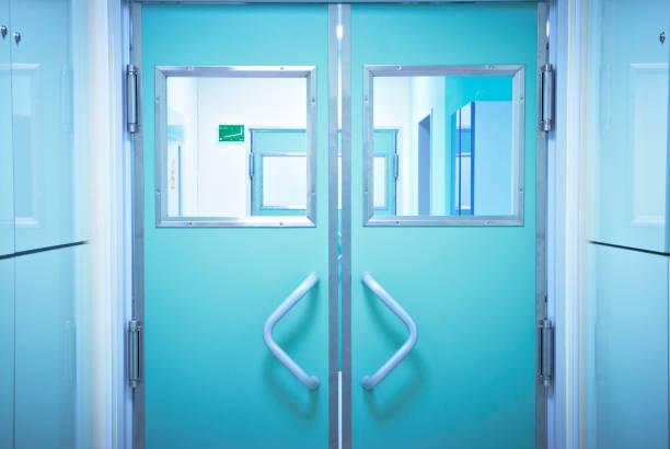 Operation Room Door stock photo