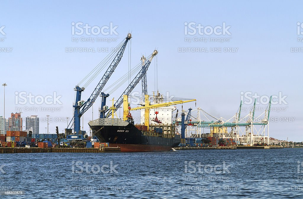 Operations at the Port of Miami stock photo