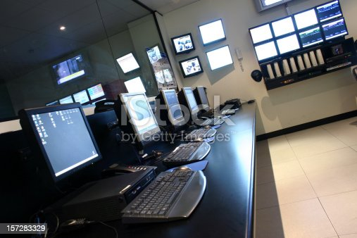 A row of terminals and monitors in an Operations Data Centre.