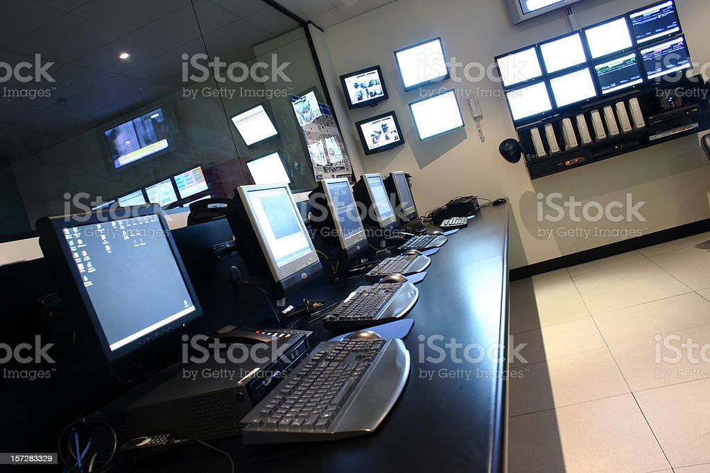 Operations Room stock photo