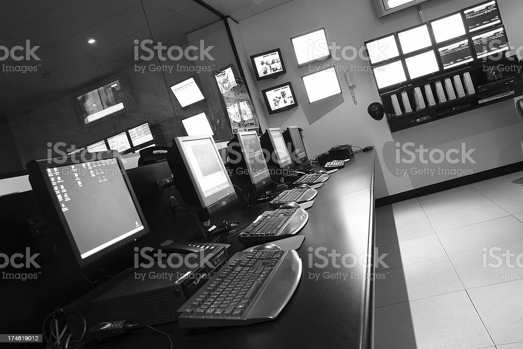 Operations Room stock photo