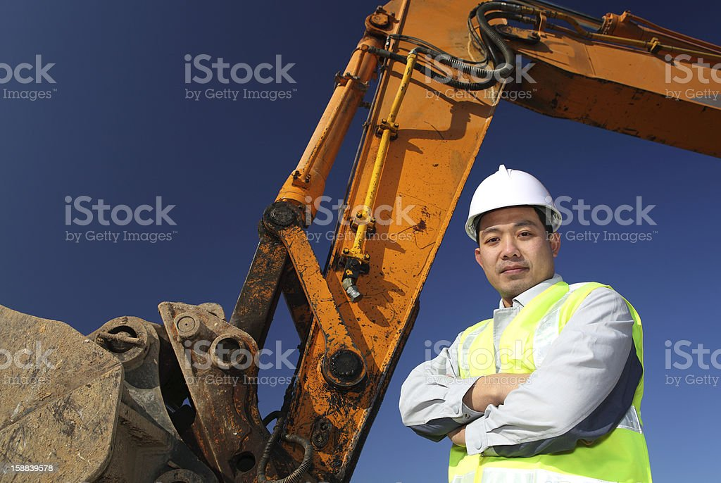 operator of a excavator royalty-free stock photo
