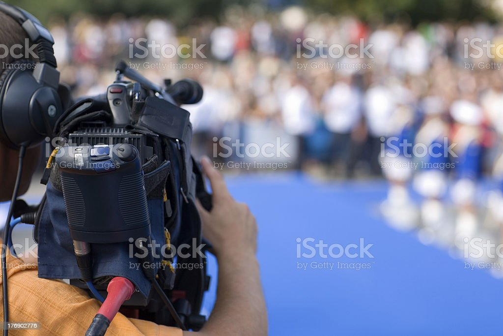 Operator of a tv camera royalty-free stock photo