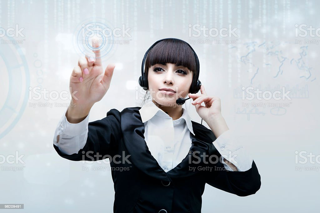 Operator royalty-free stock photo