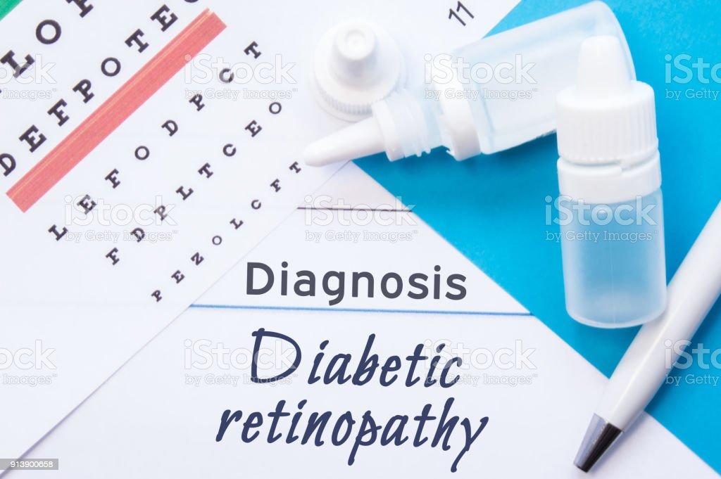 prueba de tabla optométrica para diabetes