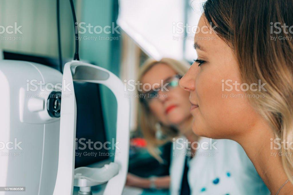 Ophthalmology. Optical coherence tomography. stock photo