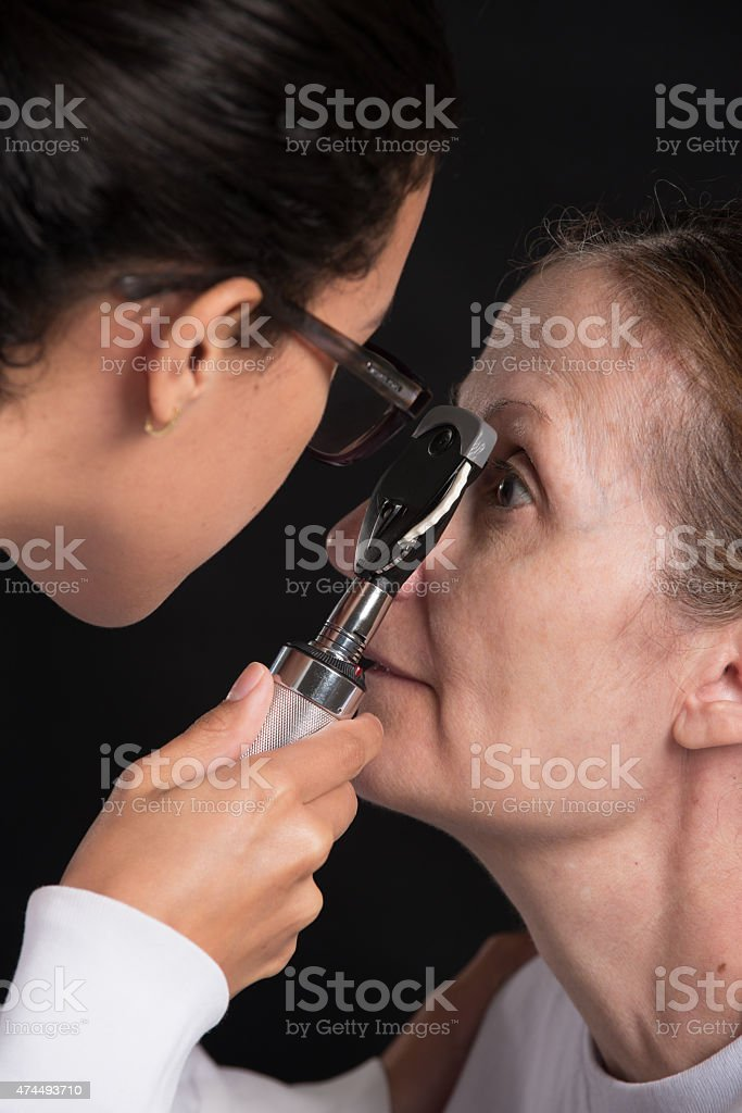 Ophthalmoscope stock photo