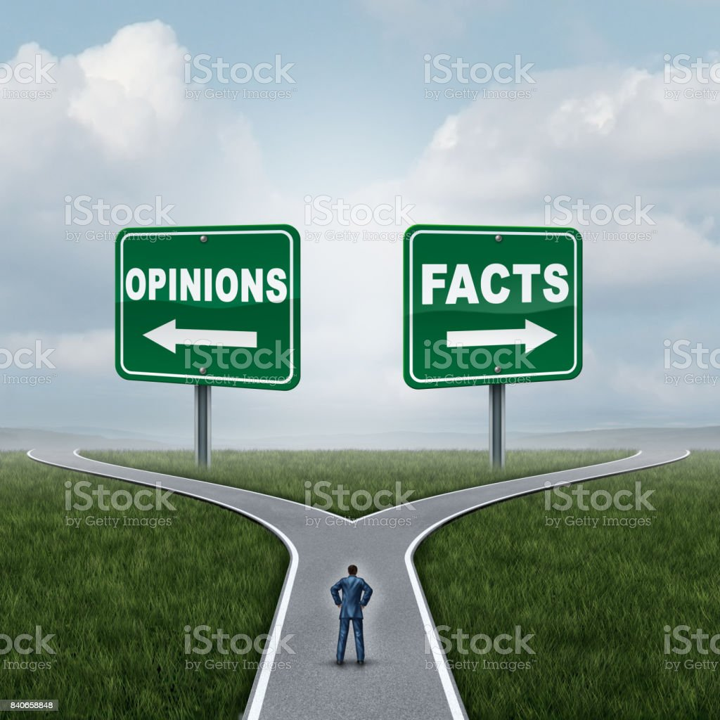 Opinions Or Facts stock photo