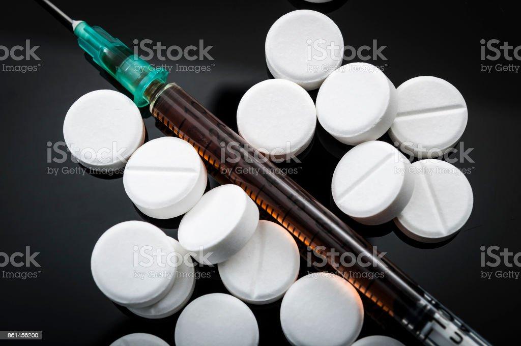 Opioid-Epidemie und Drogenmissbrauch Konzept – Foto