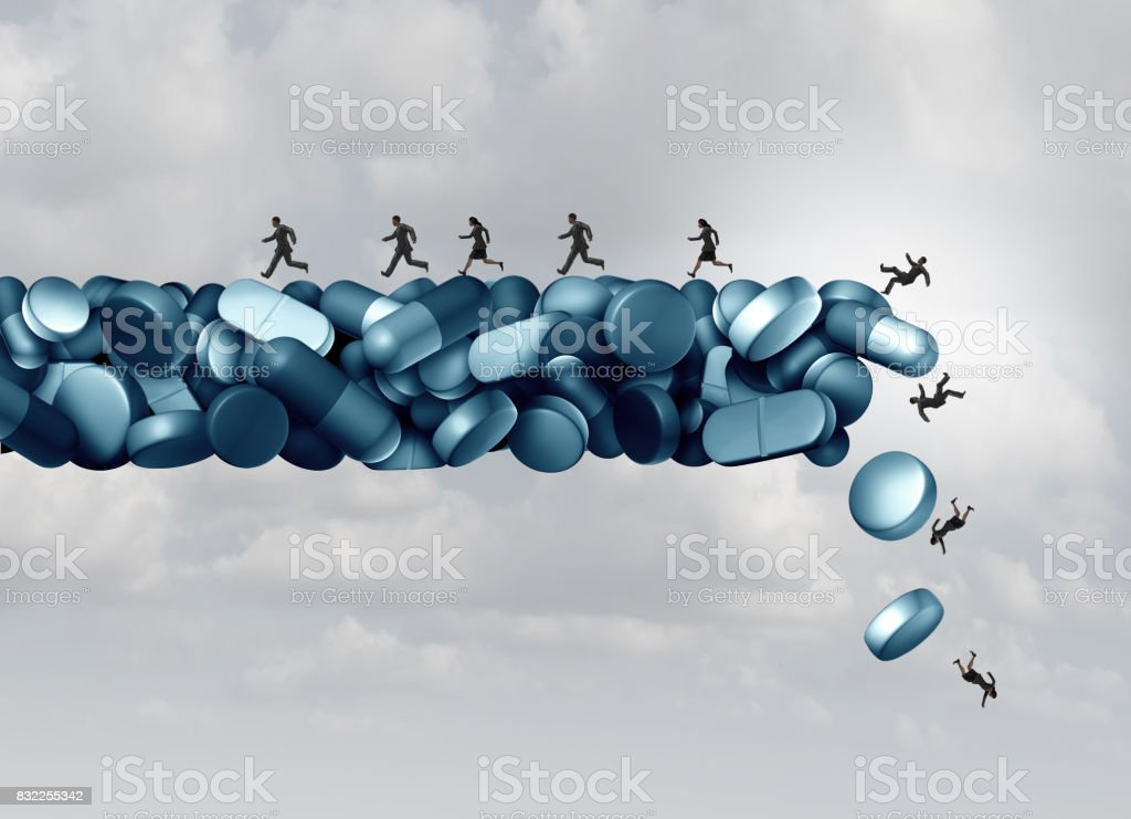 Opioid Health Risk stock photo