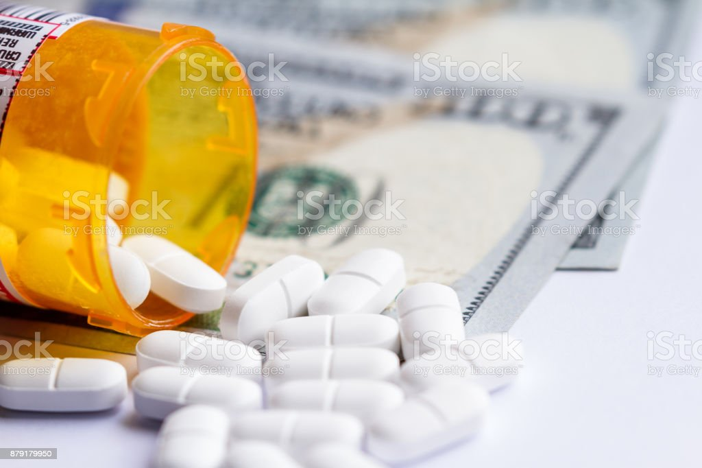 Opioid pain killers stock photo