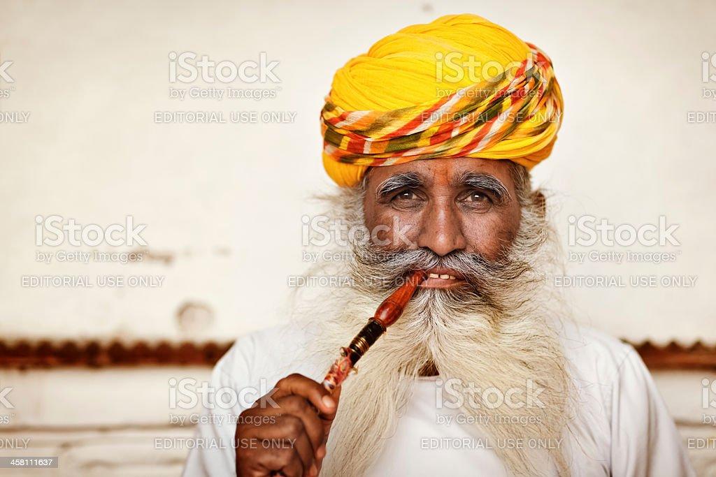 Opium Man of Mehrangarh Fort in Jodhpur royalty-free stock photo
