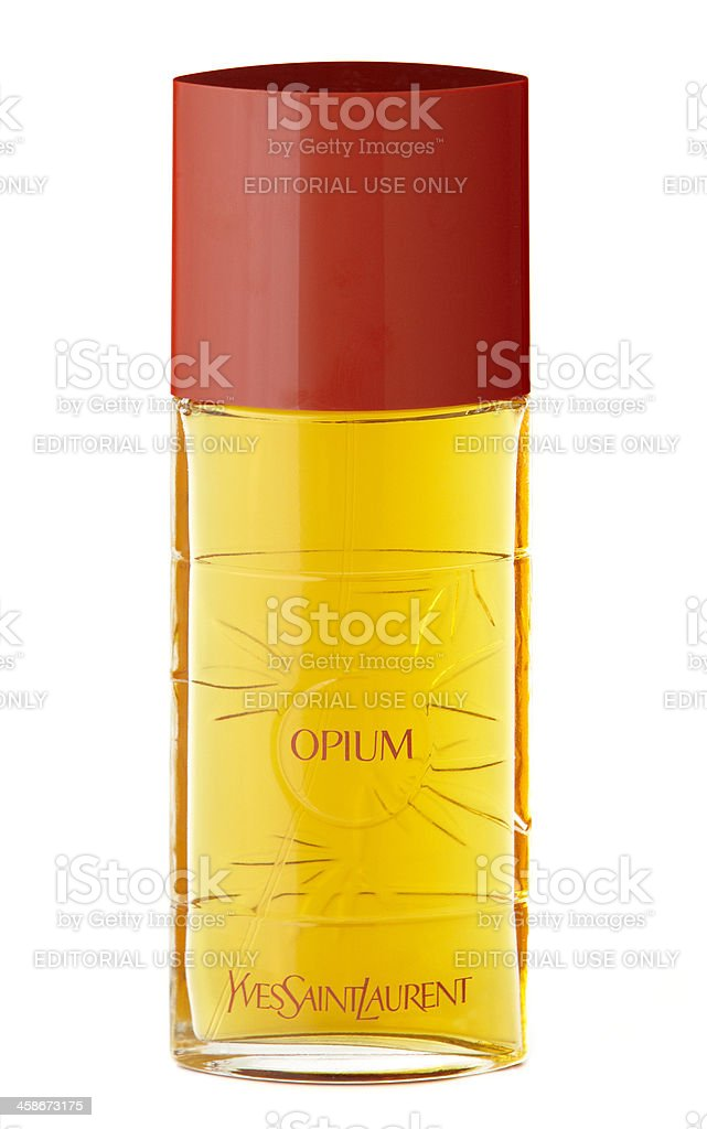 Opium Perfume By Yves Saint Laurent royalty-free stock photo