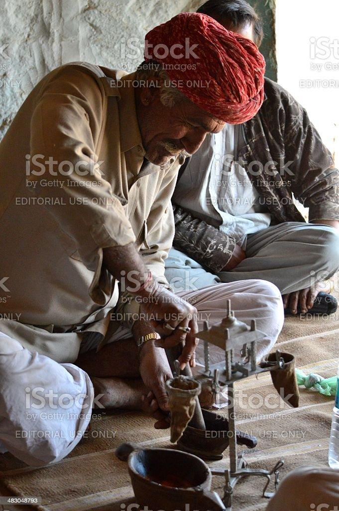Opium Preparation royalty-free stock photo