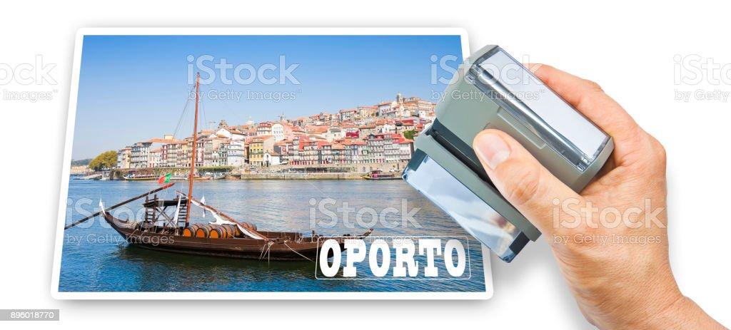 Oporto postcard concept image (Oporto - Portugal - Europe) stock photo