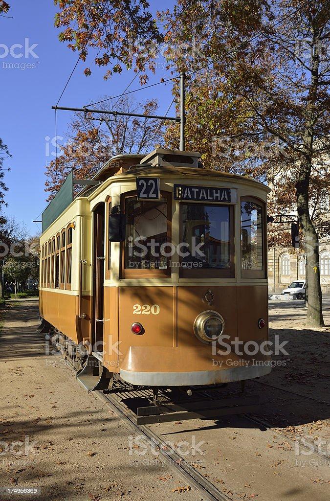 Oporto Tram royalty-free stock photo