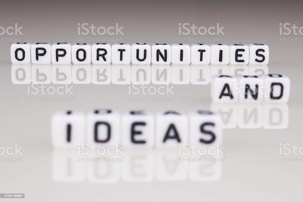 Opportunities And ideas royalty-free stock photo