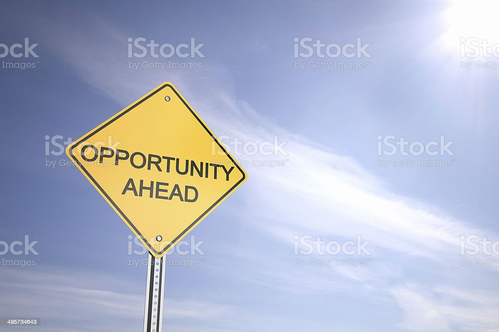 Opportunity Ahead stock photo
