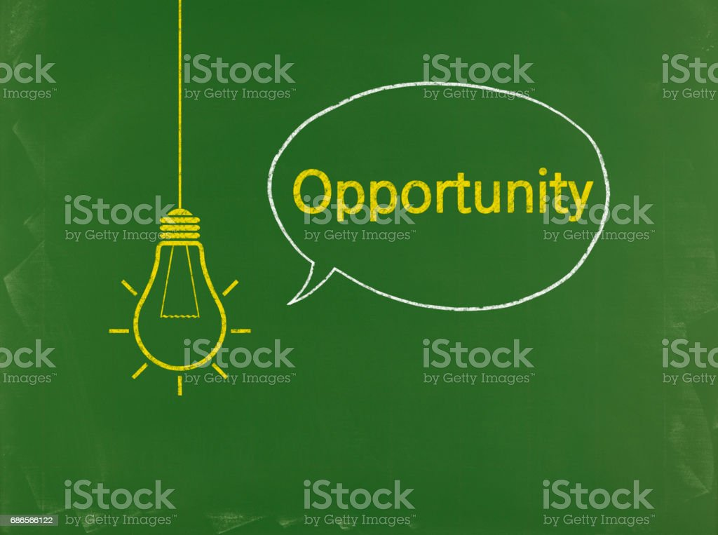 Opportunity - Business Chalkboard Background royalty-free stock photo