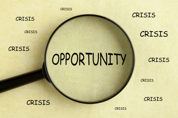 Opportunity Crisis Concept stock photo