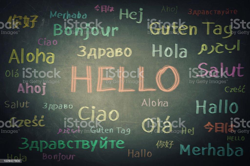 Gelegenheit für viele Sprachen lernen für Studenten – Foto