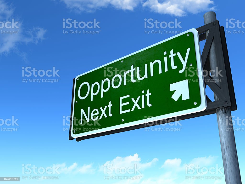 Opportunity road sign royalty-free stock photo