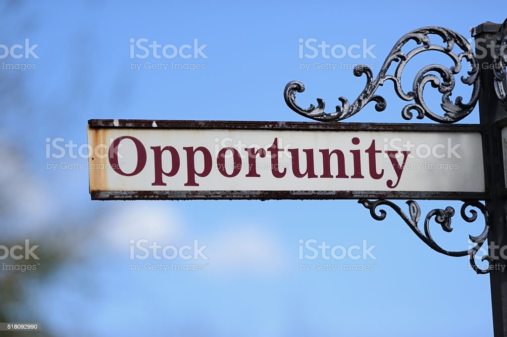 Opportunity sign stock photo