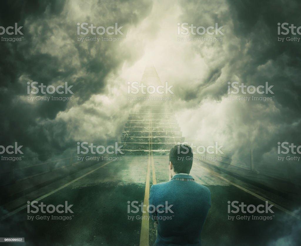 Opportunity staircase zbiór zdjęć royalty-free