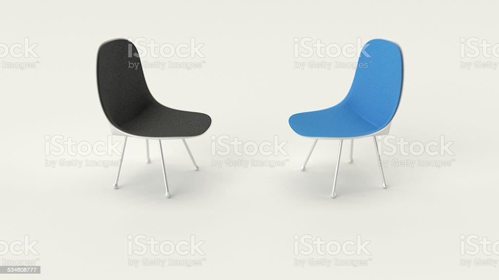 Opposing Chairs stock photo